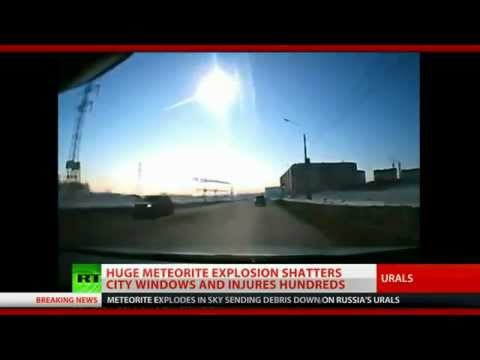 Meteorite hits central Russia near nuclear facilities. More than 500 people hurt