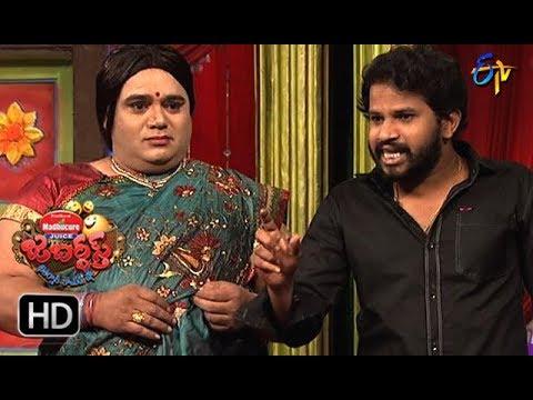 Hyper Aadi, Raising Raju Performance | Jabardasth | 11th January 2018  | ETV  Telugu