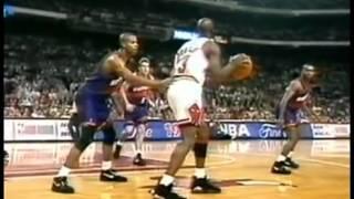 Scottie Pippen  Posterizes Oliver Miller vs Suns Game 5