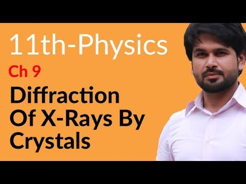 First Year Physics Diffraction of X-Rays by Crystals - Physics Chapter 9 Physical Optics- FSC Part 1