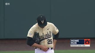 Auburn Baseball vs Vanderbilt Game 2 Highlights