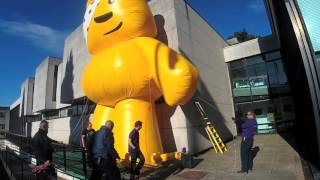Pudsey Bear Arrives in Cardiff