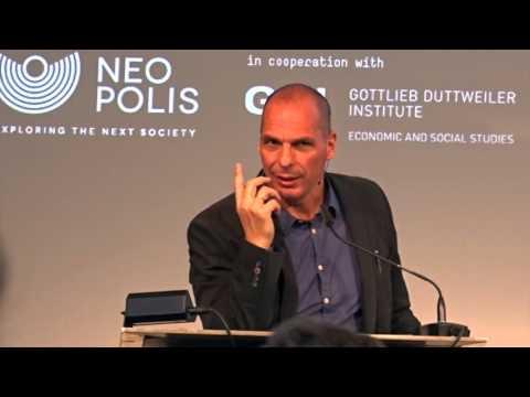 Yanis Varoufakis about the unconditional basic income at GDI Switzerland.