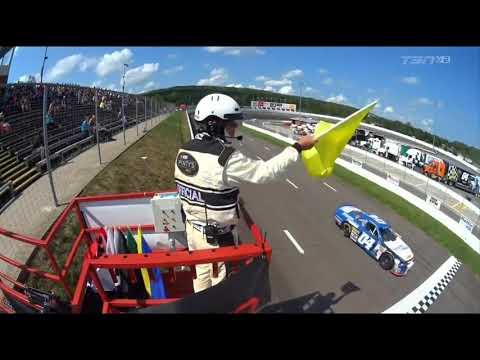 NASCAR Pinty's Series 2017  Riverside International Speedway  Alex Tagliani & Armani Williams Spins