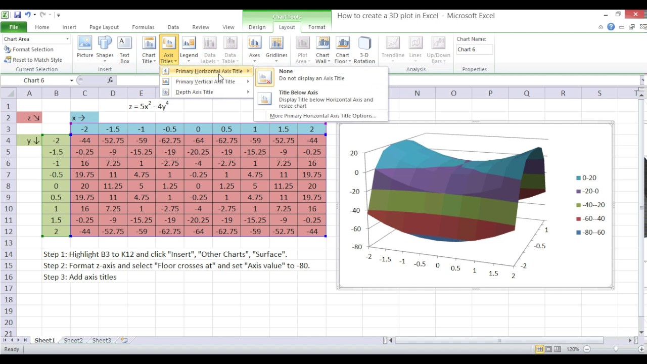 Plotting   graph in excel also youtube rh