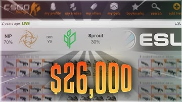If I WIN this bet, I WIN $26,000! (CS:GO BETTING REACTION)