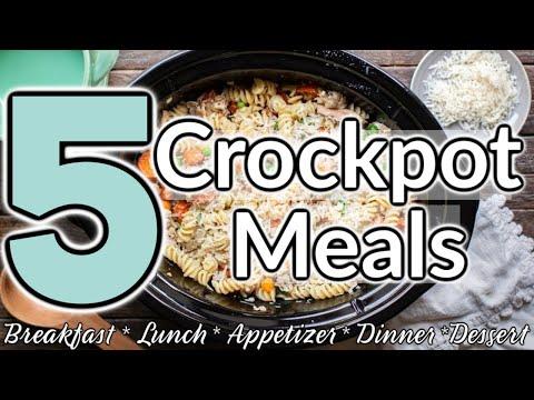 NEW! CROCKPOT MEALS   DUMP & GO CROCK POT MEALS   QUICK & EASY CROCK POT RECIPES