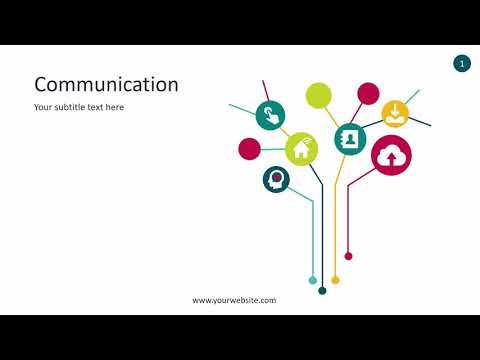 Communication Infographic - Animated PowerPoint Template