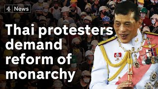 Thailand protesters demand investigation into king