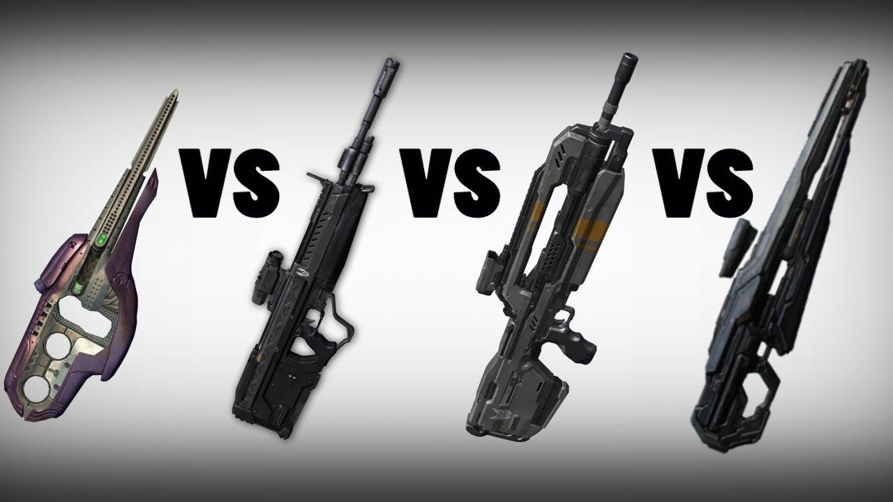 Halo 4 Battle Rifle Vs Dmr Vs Covenant Carbine Vs