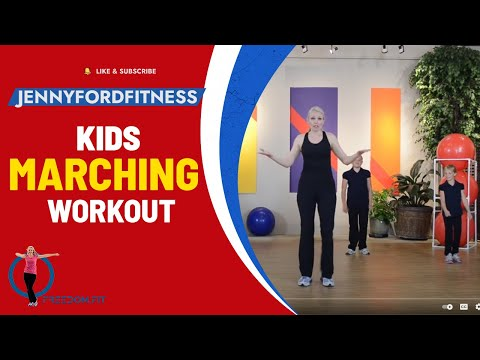 KIDS Marching WORKOUT 2 Of 2 FITNESS EXERCISE - JENNY FORD