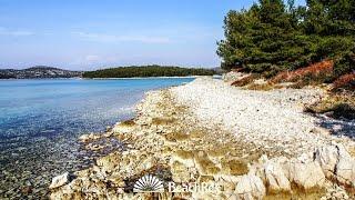 beach Guščica, Jezera, island Murter, Croatia