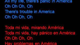 Razorlight - America -  Letra en español y en inglés en la pantalla