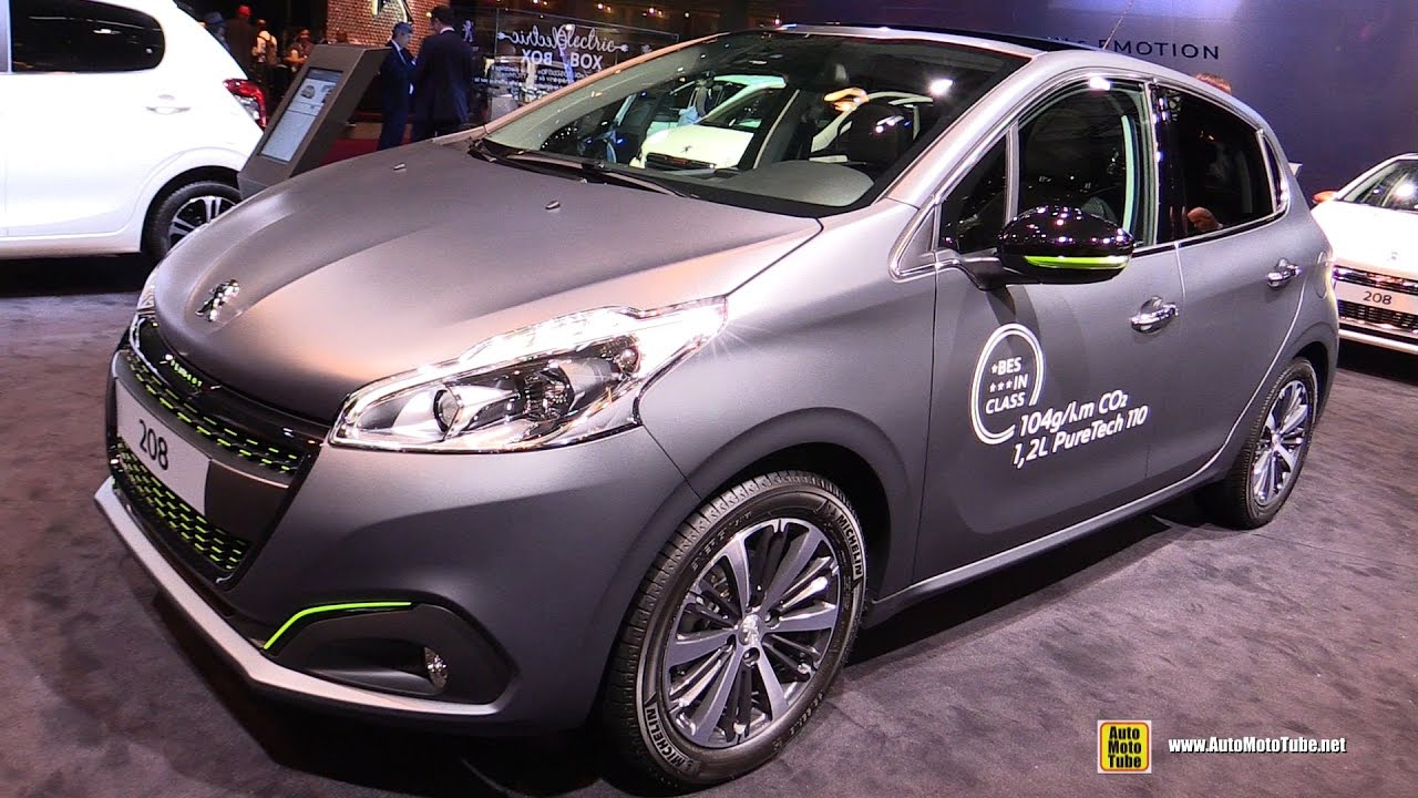 2017 peugeot 208 allure 5 doors exterior and interior walkaround debut at 2016 paris motor. Black Bedroom Furniture Sets. Home Design Ideas