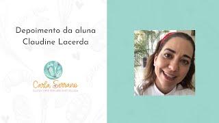 Depoimento da aluna Claudine Lacerda, Chef Funcional em SP