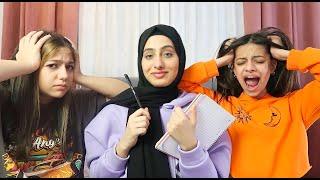 تحدي الغباء مع اخواتي - انجنوا !! 😂