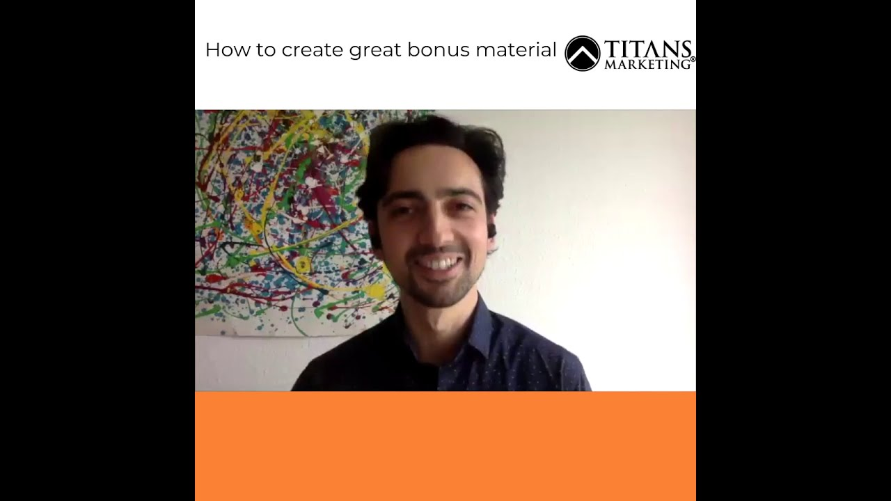 How to create great bonus material for your products
