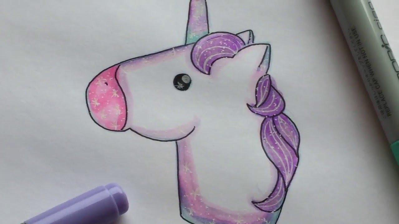How to draw a unicorn emoji