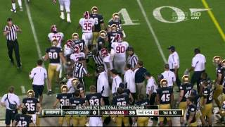 Notre Dame Fighting Irish vs Alabama Crimson Tide BCS Game 2013 Jan 7th
