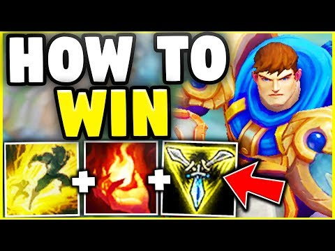 HOW TO WIN EVERY RANKED GAME WITH GAREN IN SEASON 8! YOU CAN'T LOSE WITH THIS STRATEGY!
