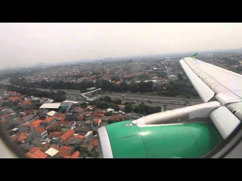 Citilink Indonesia PK-GLK landing at Halim Perdanakusuma Airport in Jakarta
