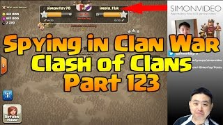 Spying in Clan Wars - Clash of Clans 123