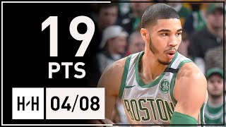 Jayson Tatum Full Highlights Celtics vs Hawks (2018.04.08) - 19 Points!