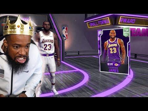 NBA 2K20 INSANE PACK OPENING LUCK! WE GOT LEBRON JAMES!!