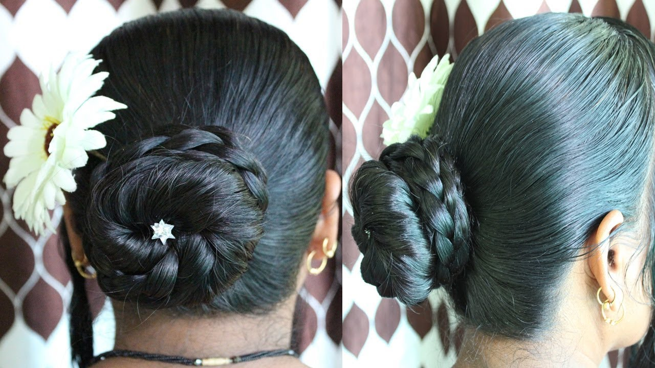 Best and Easy Juda Hairstyle   Bridal Bun hair style   Juda Hairstyle   short hairstyles - YouTube