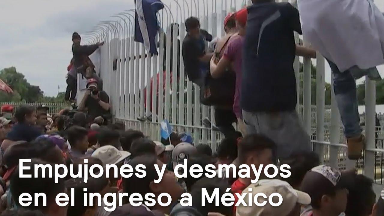 Caravana de Migrantes fue bloqueada por Policías - En Punto con Denise Maerker