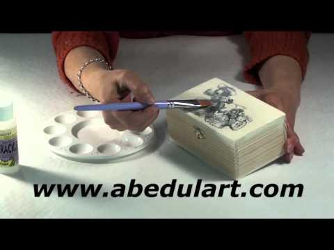 Tienda de manualidades abedul art craquelado de dos - Manualidades con cajas de madera ...