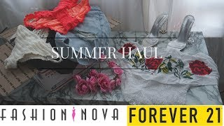 HUGE SUMMER HAUL 2017 (FASHION NOVA, FOREVER21, GARARGAE & MORE)