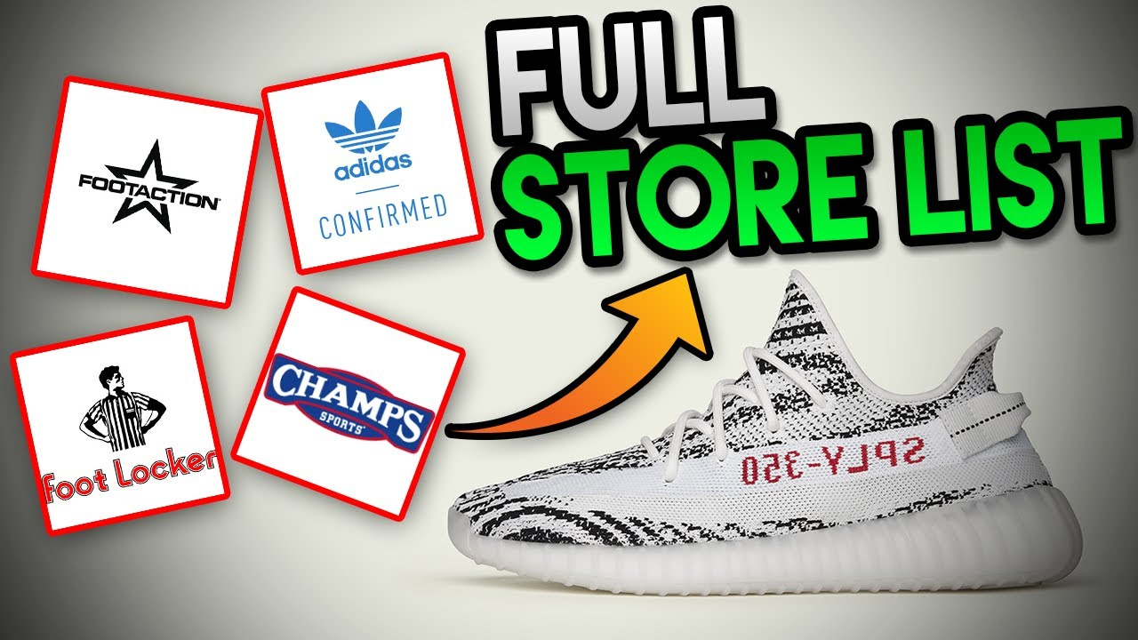 CONFIRMED  STORE LIST FROM ADIDAS FOR THE YEEZY BOOST 350 V2 ZEBRA  RESTOCK!!! (HUGE STORE LIST) 494bf5030