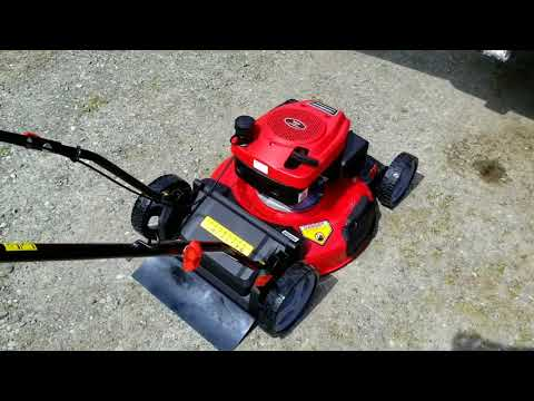 Power smart 21 inch 2 in 1 push lawnmower unboxing and review
