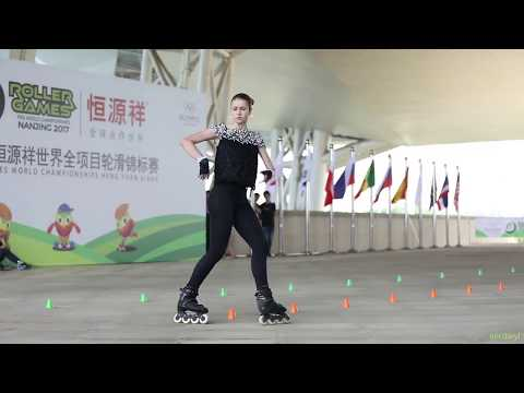 2017 Roller Games,Senior Women Classic Slalom 7th,Ksenia Dubinchik,Russia 成女花桩 7th 俄罗斯