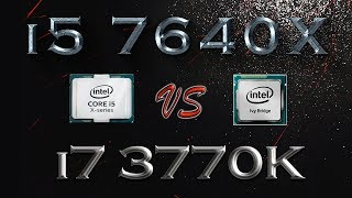 i5 7640X vs i7 3770K BENCHMARK | Hitman Total War Tomb Raider Far Cry | 7-ZIP Truecrypt X264 |