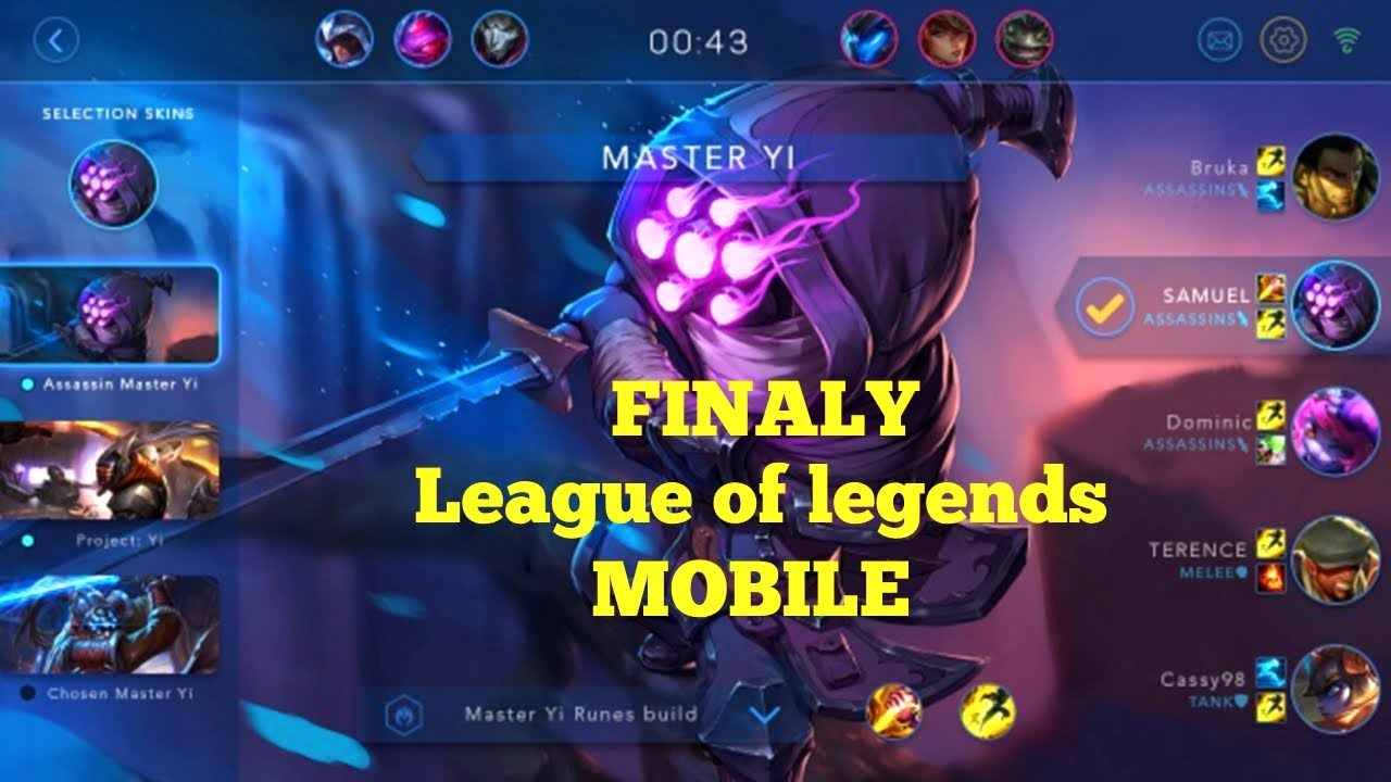 League Of Legends Mobile Release Date News Is Lol Coming To Android And Ios Mobiles Youtube