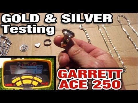 Gold & Silver Test GARRETT ACE 250 Metal Detector $275 Check for