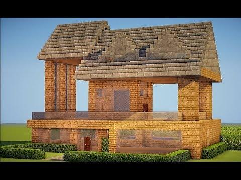 Minecraft survival 7 xbox one construindo a primeira for Casa moderna xbox 360 minecraft