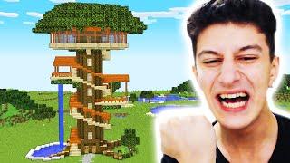 AĞAÇ EV YAPMAYA BAŞLADIM 😂 Minecraft 19