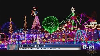 Local family wins national Christmas lights competition