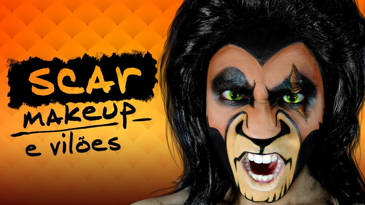 Scar - The Lion King Makeup - YouTube