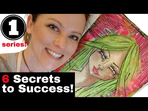 """MIXED MEDIA SECRETS SPELLED OUT In 6 EASY STEPS - My """"Hamburger"""" System (Video #1 In Series)"""
