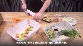 Салат из печени трески - видеорецепт