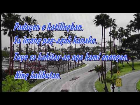 Paglaum - Sharon Magdayao (Vina Morales) slide video with lyrics on screen.