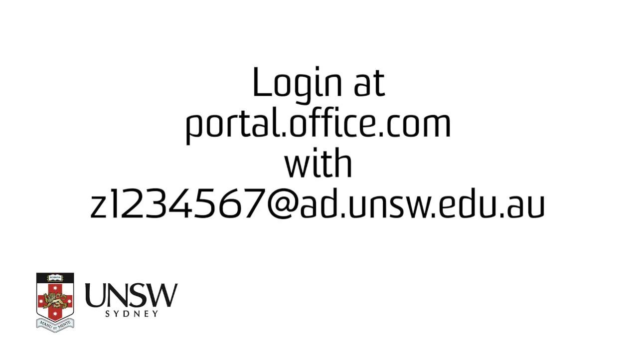 login at portalofficecom with z1234567adunsweduau
