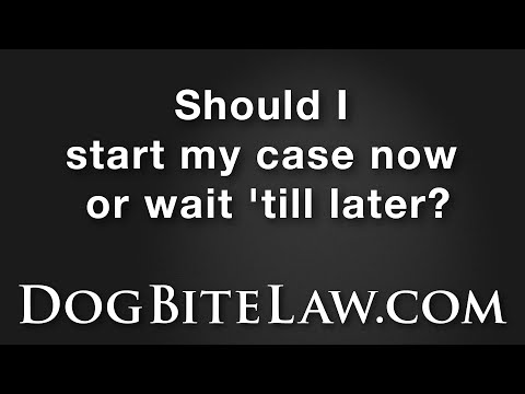 Should I start my case now or wait?
