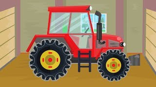Construction Machinery For Baby - Excavator and Tractor and other vehicles - Colorful objects