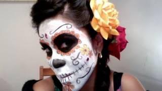 Dia de los muertos makeup hair tutorial