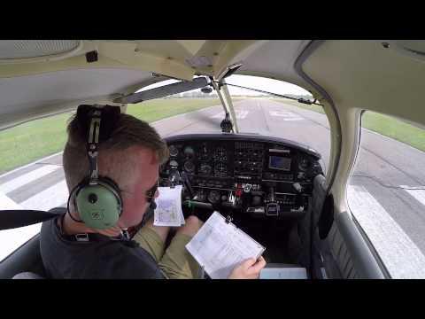 Solo navigation school flight from Roskilde (EKRK) to Kalundborg (EKKL)